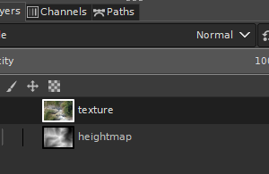 GIMP-place heightmap and texture in one document